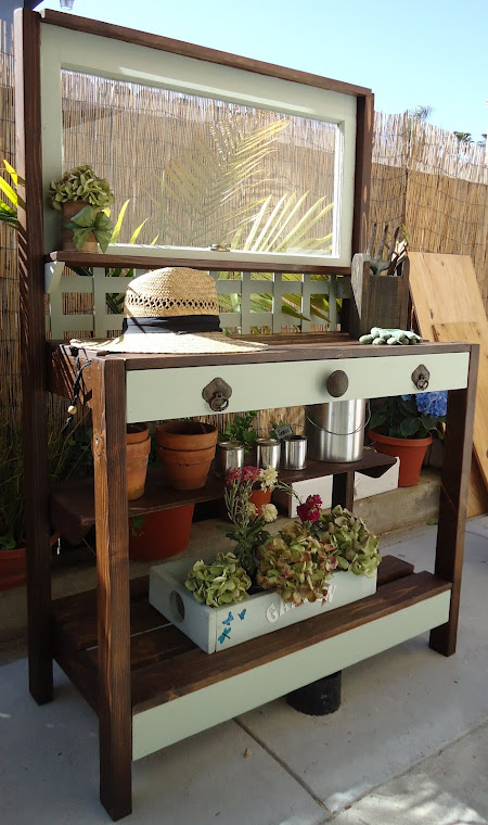 1940s Window Table with Vintage Hardware-SOLD