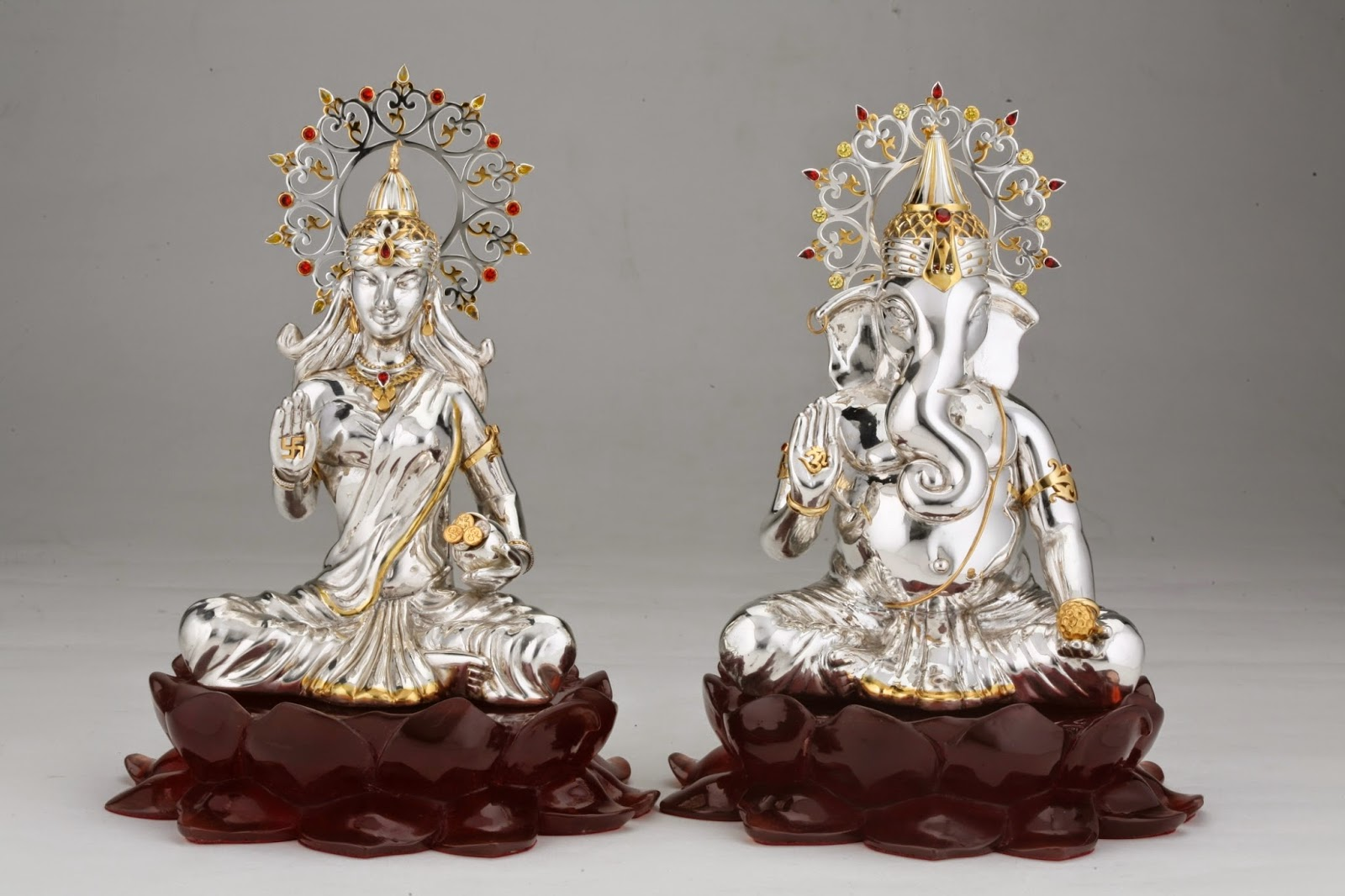 Shopping For Pooja Accessories And Statues Of Indian Gods In Silver