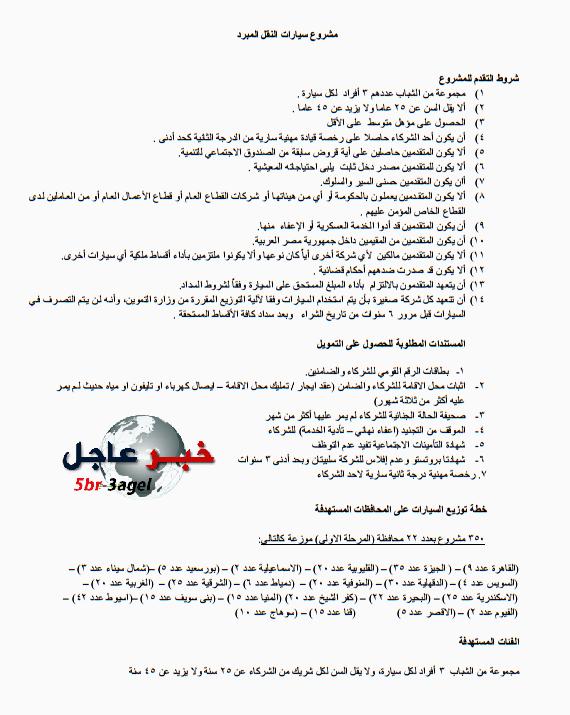 وظائـف رئيس الجمهورية لتشغيل شباب الخريجين بالمحافظات - التقديم حتى 17 / 1 / 2016