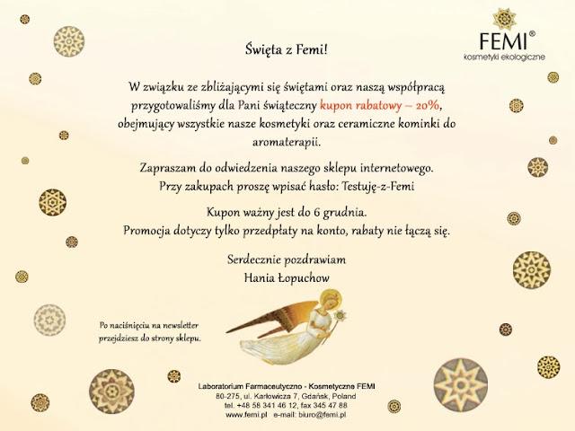 Rabat 20% na zakupy w sklepie FEMI