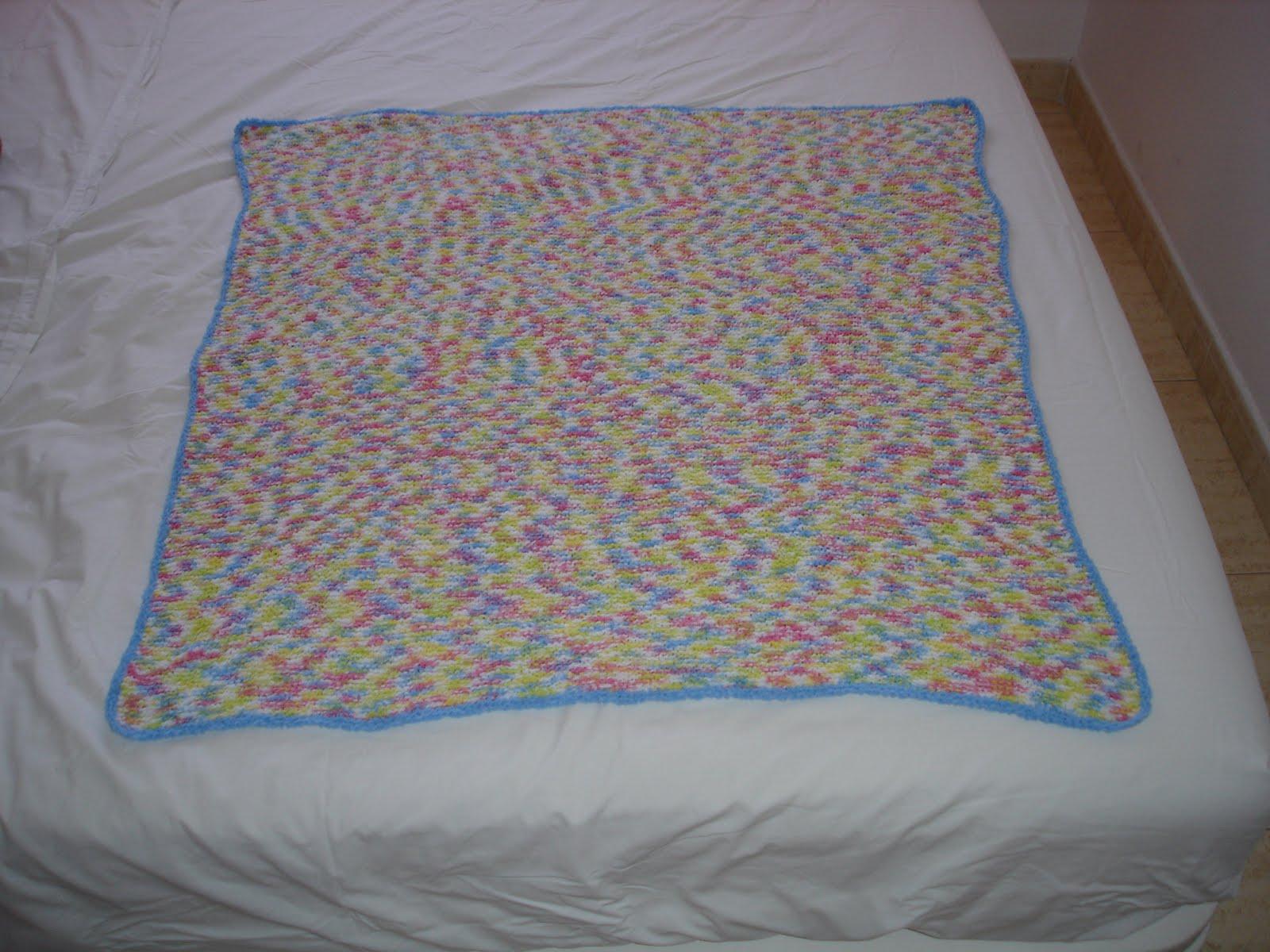Mireia 39 s secrets manta de beb a dos agujas knitting - Mantas de punto a dos agujas ...
