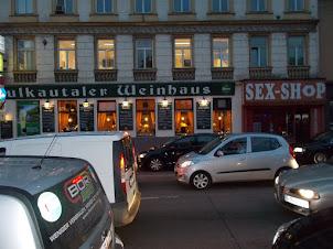 """""""Sex Shop"""" in Westbahnhoff in Vienna."""