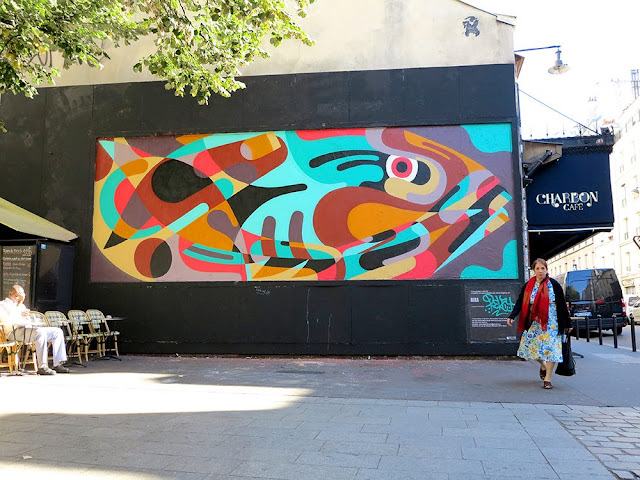 "After Switzerland and Italy our good friend Reka One wrapped up his Euro summer tour 2015 with a new piece in Paris. Putting his name on the list of participants of the legendary Le Mur project, the Australian-born artist recently revealed ""Give a Man a Fish""."
