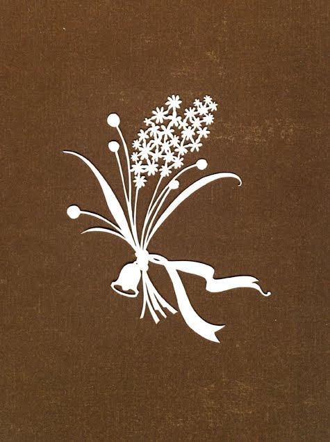 букетик цветов-вытынака+шаблон