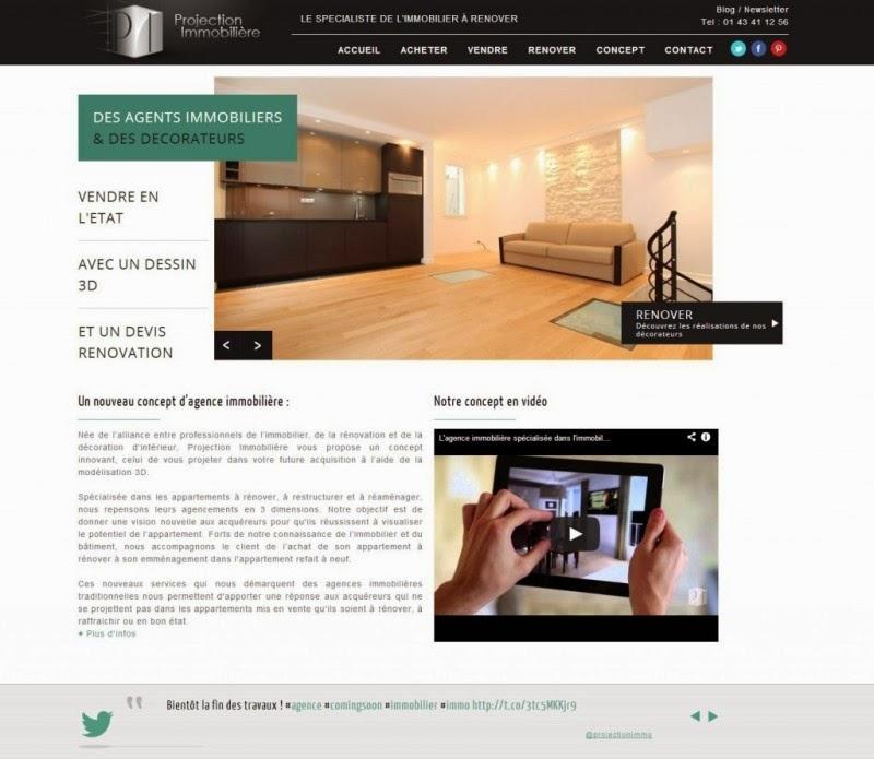 Agence immobilière à Paris