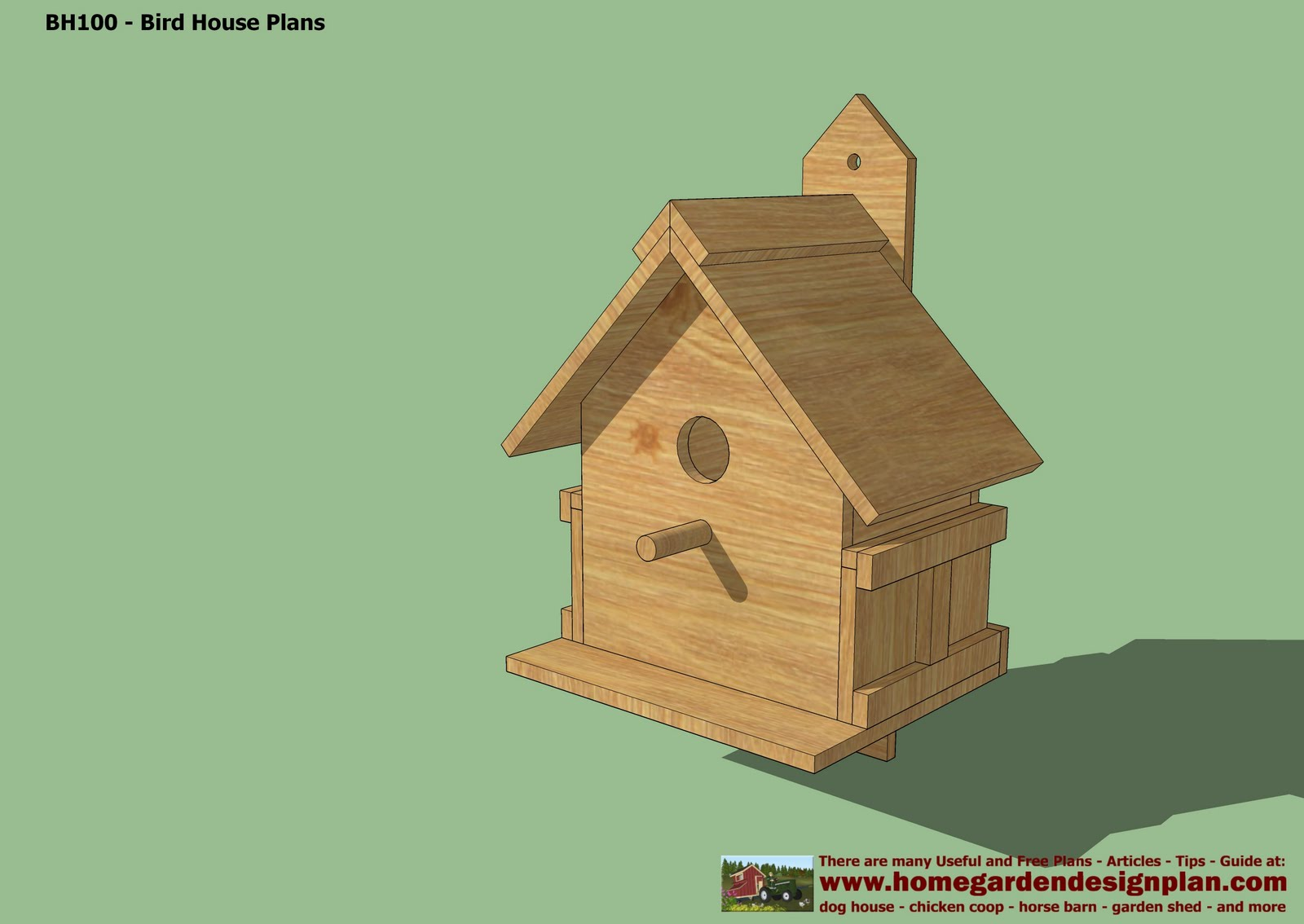 Home garden plans bh102 bird house plans construction Build a house online free