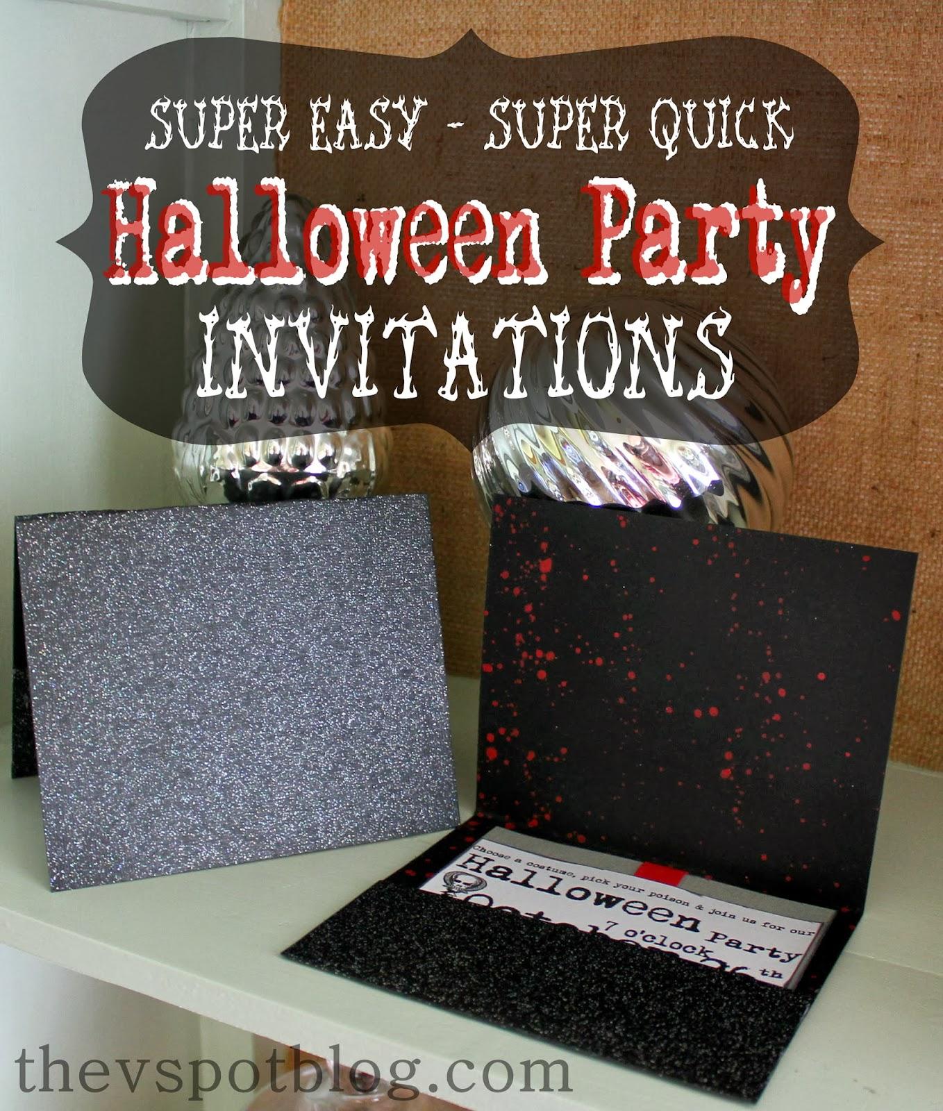Easy Halloween party invitations. | The V Spot