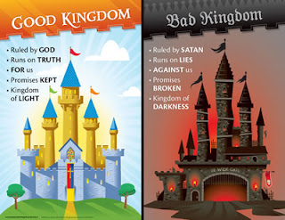two kingdoms, good kingdom, bad kingdom, good and bad, satan and God