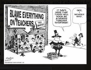 Funny Cartoon that basically states Blame Everything on Teachers