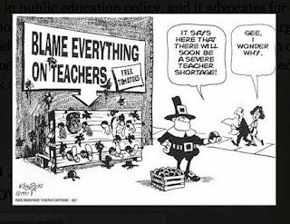 Funny Cartoon that basically states Blame Everything on Teachers