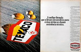 Texaco.  brazilian advertising cars in the 70s; os anos 70; história da década de 70; Brazil in the 70s; propaganda carros anos 70; Oswaldo Hernandez;