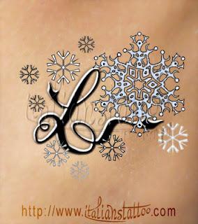 fiocchi di neve lettera L