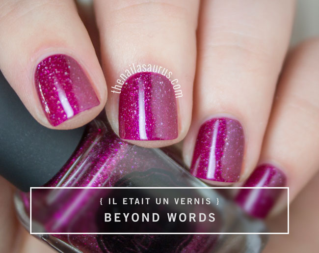 Il etait un vernis once upon a time collection swatches the il etait un vernis beyond words pink nail polish swatch prinsesfo Choice Image