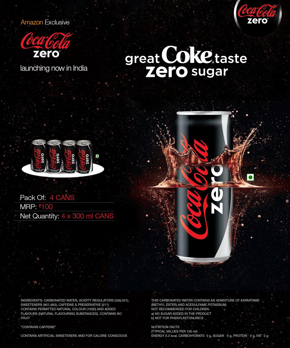 Coca Cola Zero Nutrition Buy Coca Cola Zero Online at