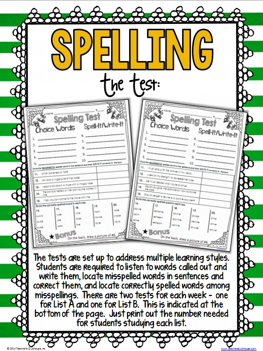 It'S Here! {Differentiated Spelling For Grade 2} - *Teaching