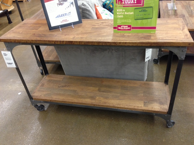 I Had My Eye On This Console Table At World Market And A Similar One Anthro Our Dining Room Buffet Wood Carved Side From Look