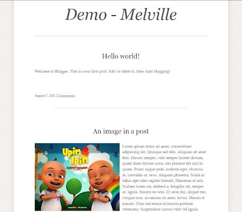 Melville Blogger Theme