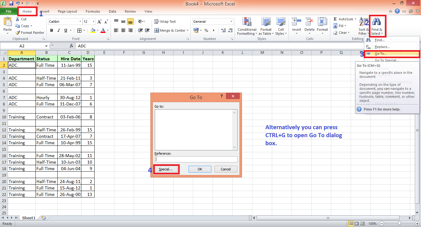 how to select delete blank cells in between data in excel excel
