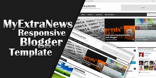 MyExtraNews Responsive Blogger Template by MKR