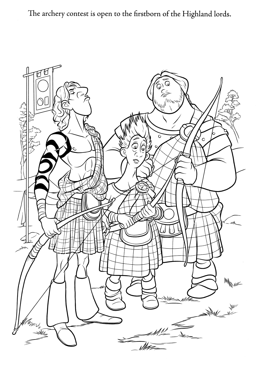 brave coloring pages Minister