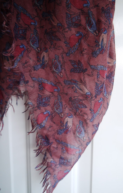 Bird themed scarf