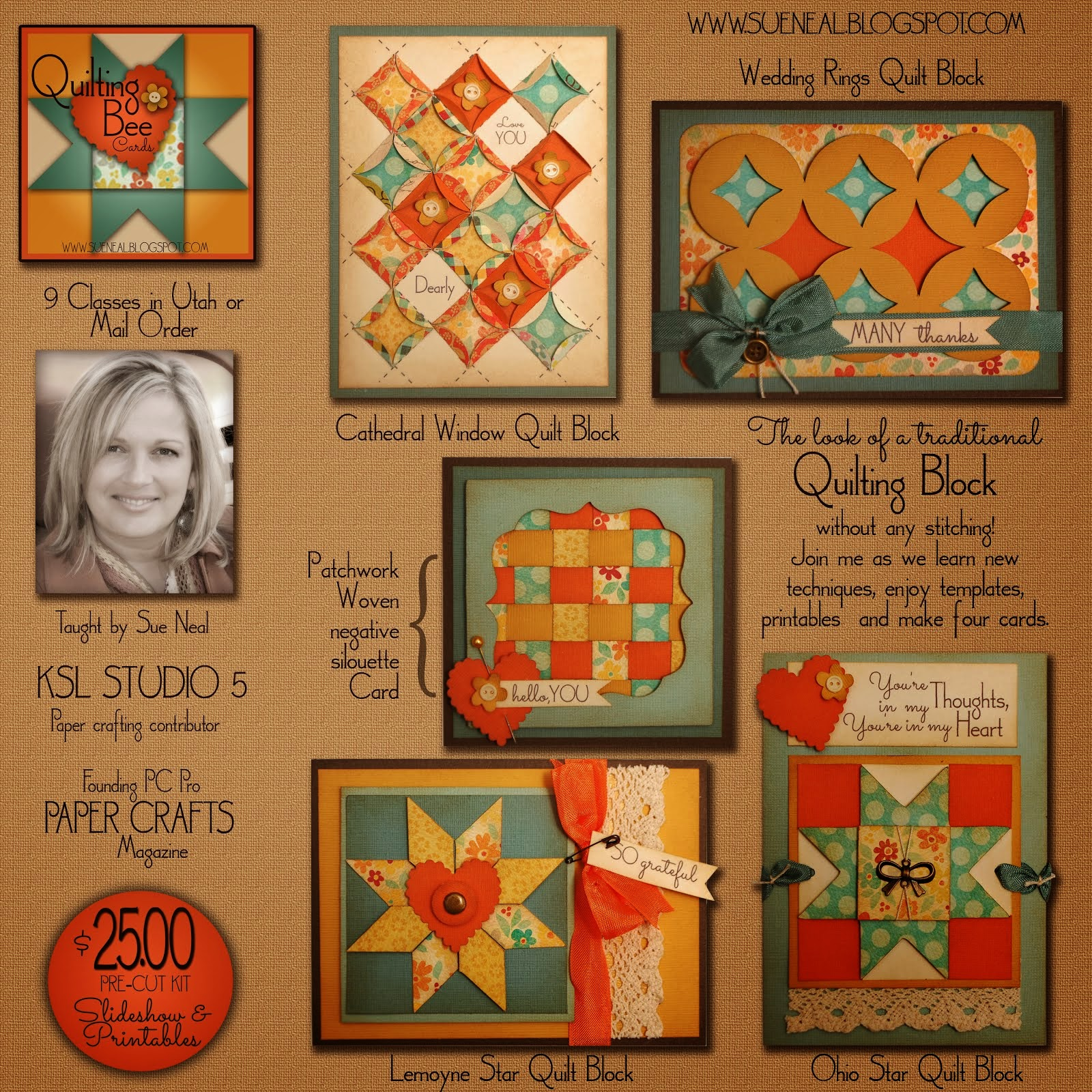 Quilting Bee Card Class/Kit