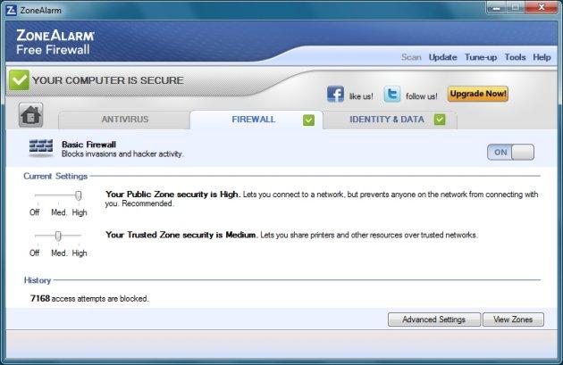 ZoneAlarm Free Antivirus Plus Firewall 2013 - Firewall