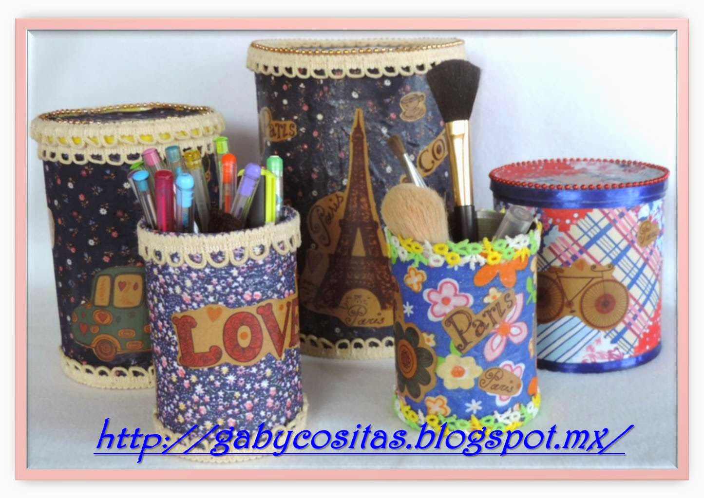Reciclando botes y latas forradas de tela for Ideas de decoracion reciclando