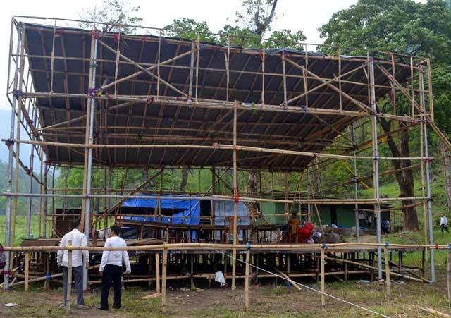 All set to welcome Baba Ramdev in jogighat steel bridge