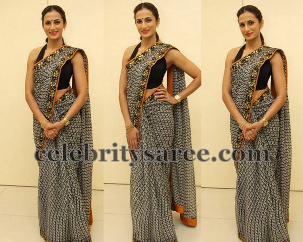 Shilpa Reddy Black Printed Saree