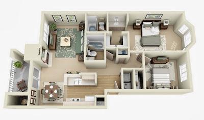 Departamento dos dormitorios, cocina, dos baños