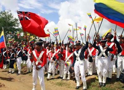 Niños reviven la Batalla de Carabobo