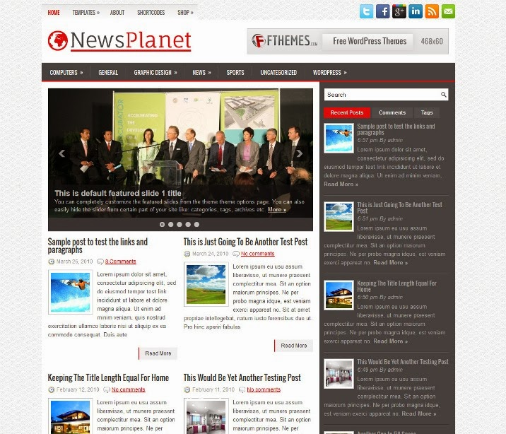 NewsPlanet - Free WordPress Theme