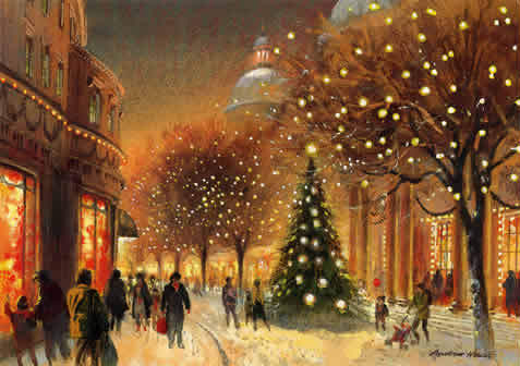 beautiful christmas celebrations art