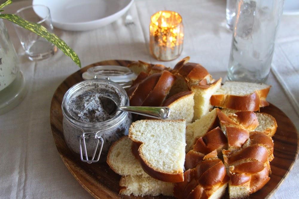 Sliced Bread on Tray