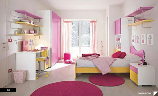 Desain Interior Kamar Anak Nuansa Pink Feminine - Pink Feminine Bedroom