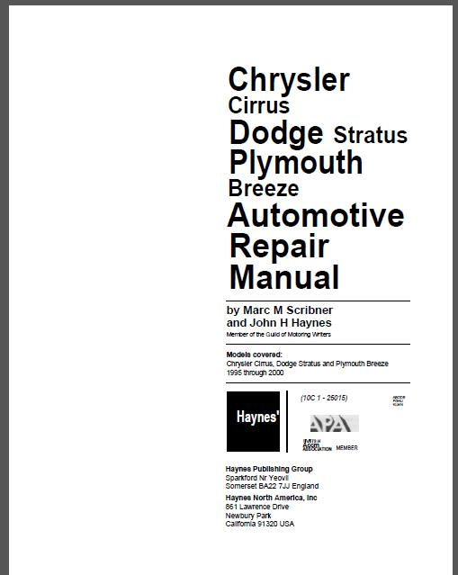 chrysler manuals free rh chrysler manuals free mollysmenu us 1999 dodge stratus owners manual pdf Dodge Stratus Repair Manual