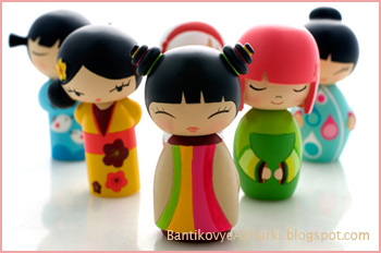 деревянные кокэси - куклы Японии