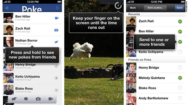 poke facebook iOS