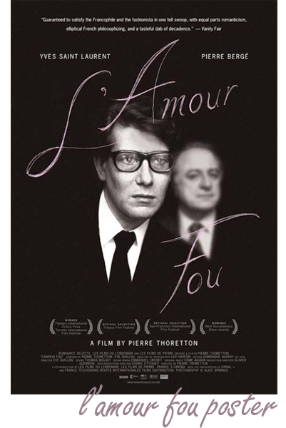 l amour fou. Official L#39;Amour Fou poster
