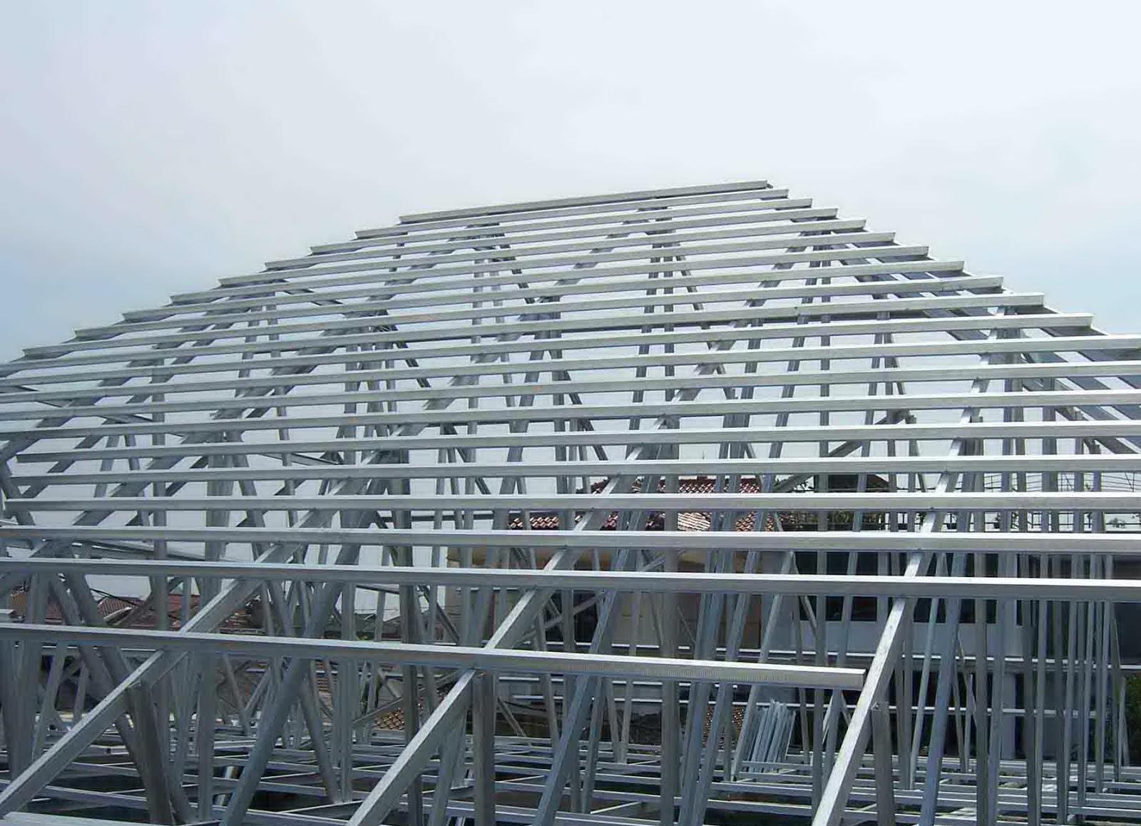 dalam menghitung volumerangka atap.Pekerjaan rangka atap baja