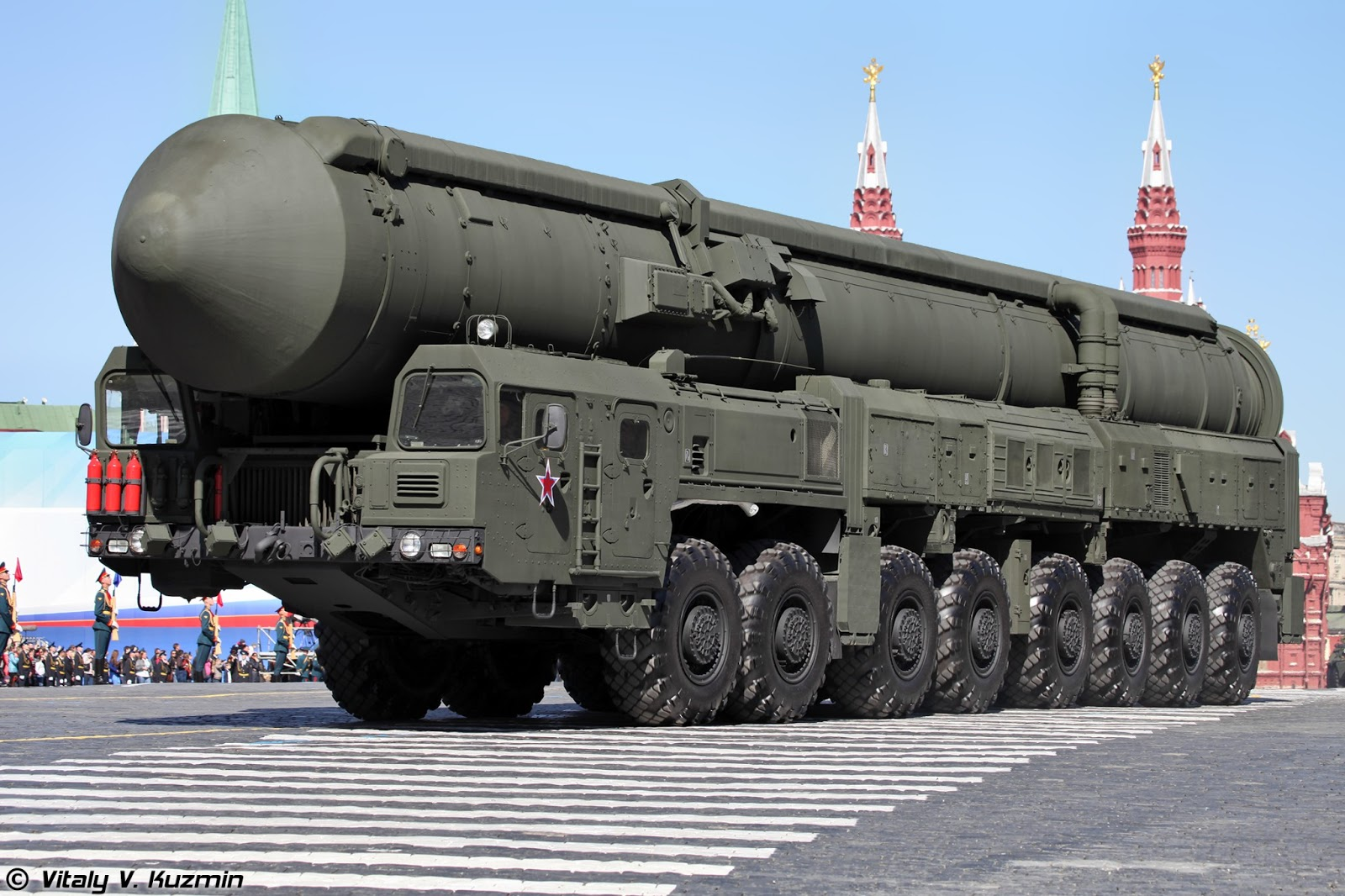 SS-29 (RS-24 or RT-24 Yars) Inner-Continental Ballistic Missiles. Road