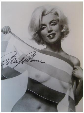 from Bo marilyn monroe nude stomach