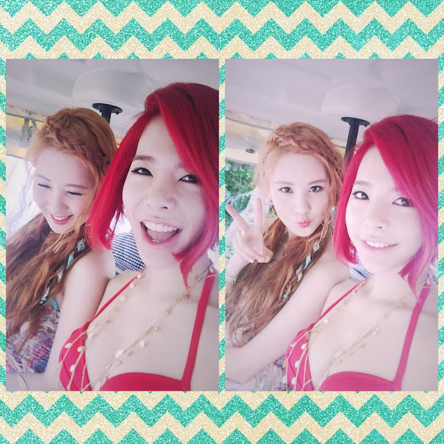 its a hot summer with snsds sunny and seohyun snsd