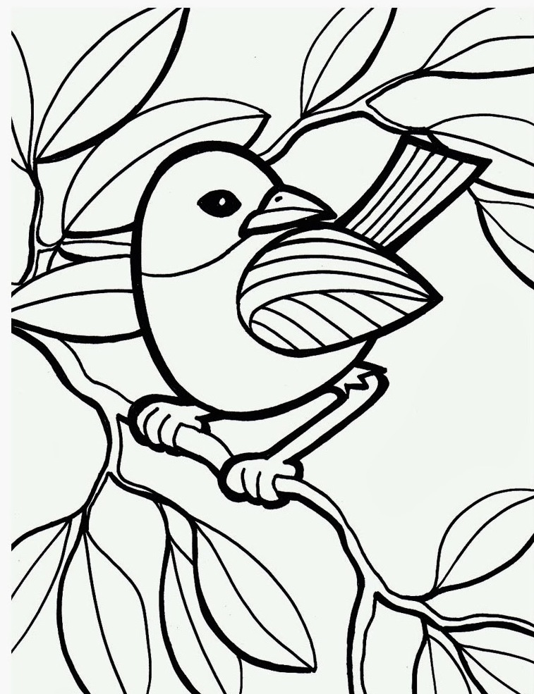 httpwwwkidscpcombird coloring pages printable - Printable Coloring Pages Birds