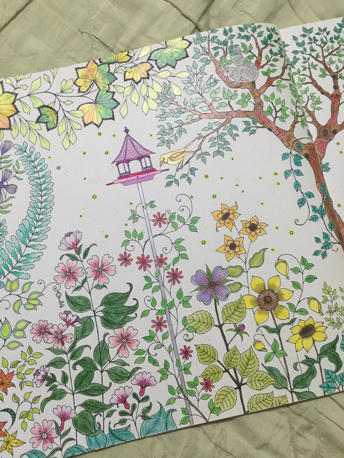 The secret garden coloring book finished - Will Be Back For More