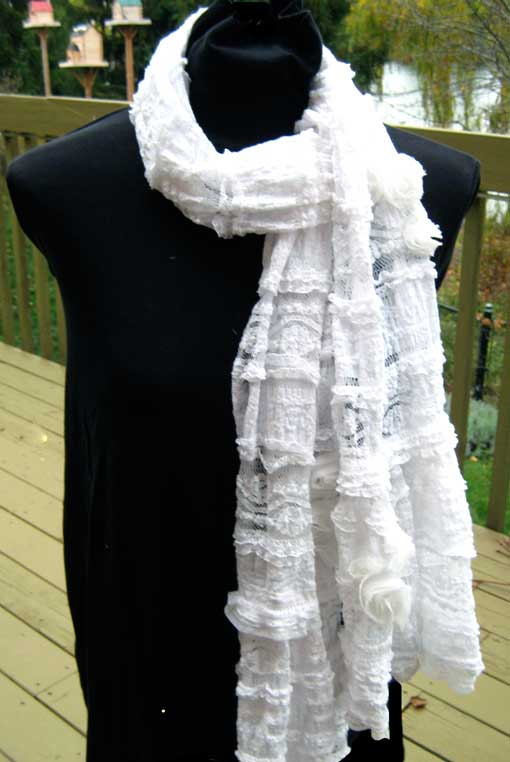 finished shabby chic scarf
