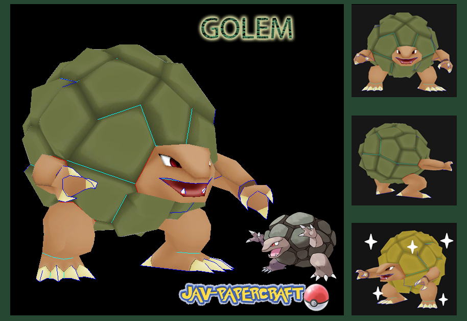Pokemon Golem Paper Model