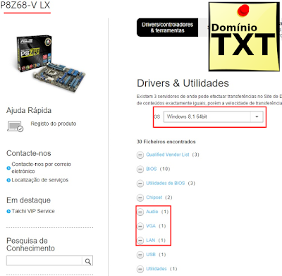 DominioTXT - Download Drive Placa Mãe