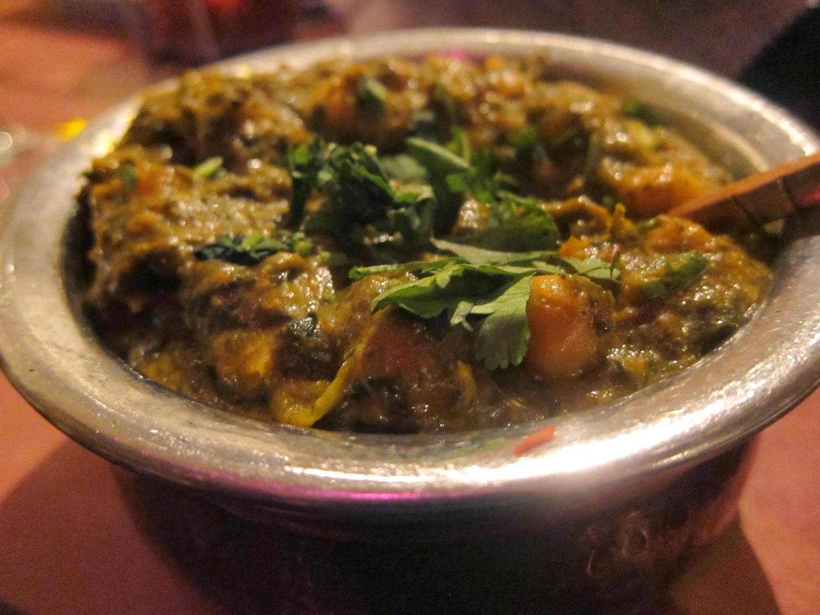 Chole Saag from India Palace in Somerville | The Economical Eater